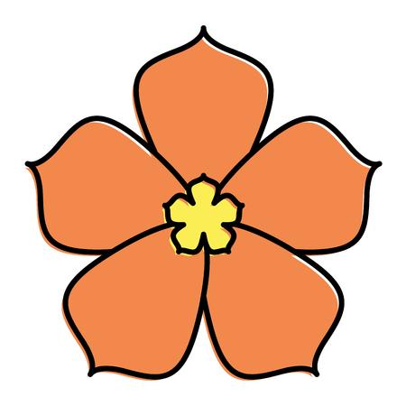 Sakura Blume Symbol Kirsche Blüte Vektor-Illustration Standard-Bild - 91953445