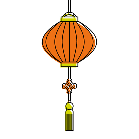 traditional chinese lantern in a flat style vector illustration