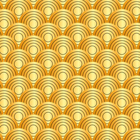 Linee arrotondate senza soluzione di continuità motivi geometrici raccolta illustrazione vettoriale astratto Archivio Fotografico - 91953455