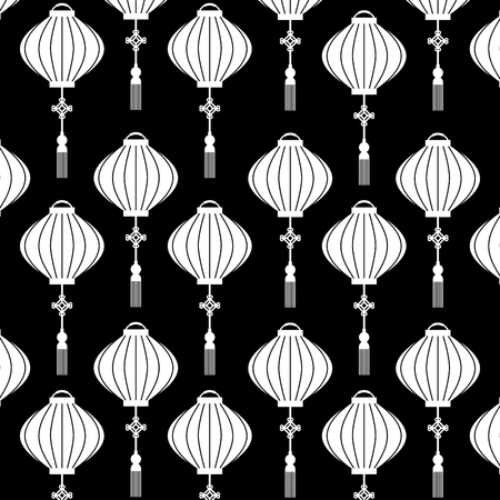 chinese lantern pattern beautiful decoration vector illustration Stock Vector - 91915139