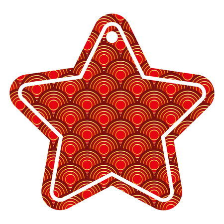 star tag japanese rounded lines pattern image vector illustration