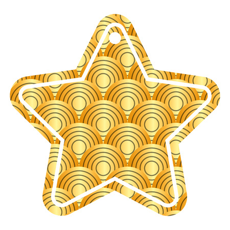 スタータグ 日本の丸い線パターン画像ベクトルイラスト