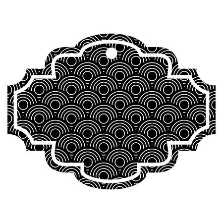 둥근 선 패턴 이미지 벡터 일러스트 흑인과 백인 레이블
