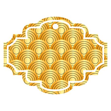 레이블 둥근 라인 패턴 이미지 벡터 일러스트 레이 션 황금 이미지