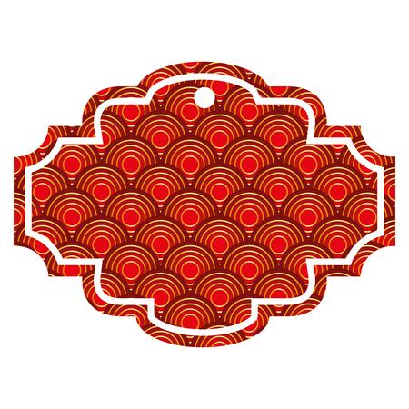 레이블 반올림 패턴 이미지 벡터 일러스트 레이 션 빨간색과 골든 이미지