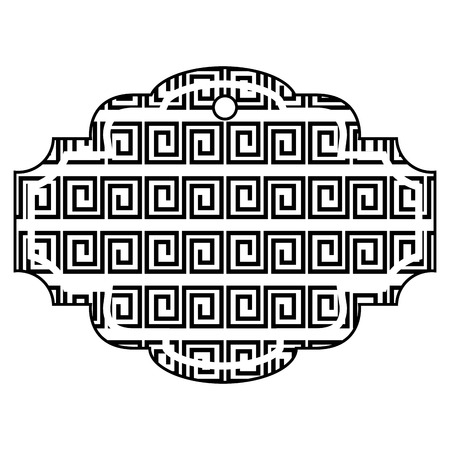 label abstract geometric design vector illustration black and white Illustration