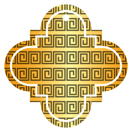tag chinese abstract geometric design icon vector illustration golden image
