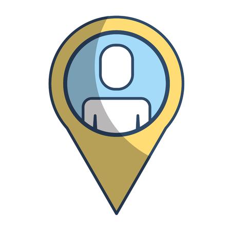 pointer map businessman people work vector illustration pictogram style Illustration