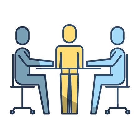 teamwork meeting office people together vector illustration