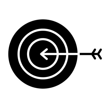 zakelijke doel pijl strategie symbool vector illustratie pictogram Stock Illustratie