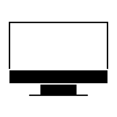 A monitor computer device work equipment vector illustration pictogram 向量圖像