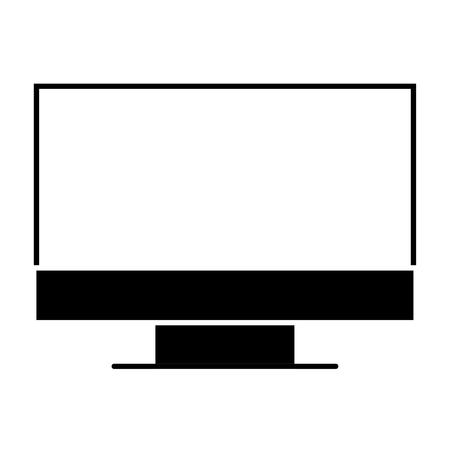 Un pittogramma dell'illustrazione di vettore dell'attrezzatura di lavoro del dispositivo del computer del monitor Archivio Fotografico - 91943934