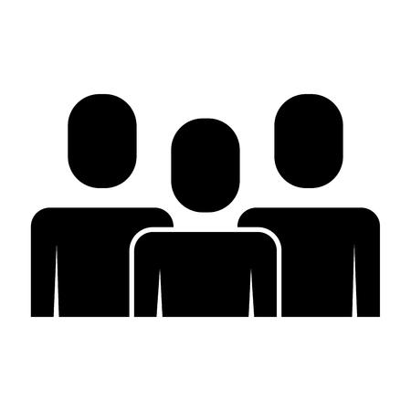Portrait business people teamwork partnership vector illustration pictogram