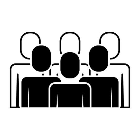 A portrait business people teamwork partnership vector illustration pictogram Stock Vector - 91944039