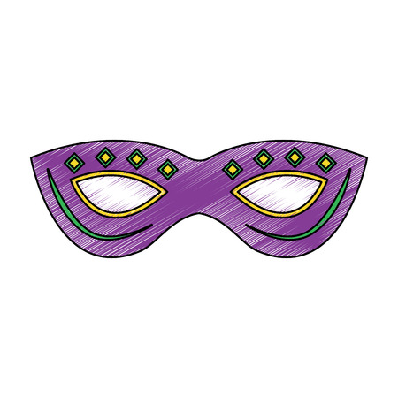 Mask mardi gras carnival icon