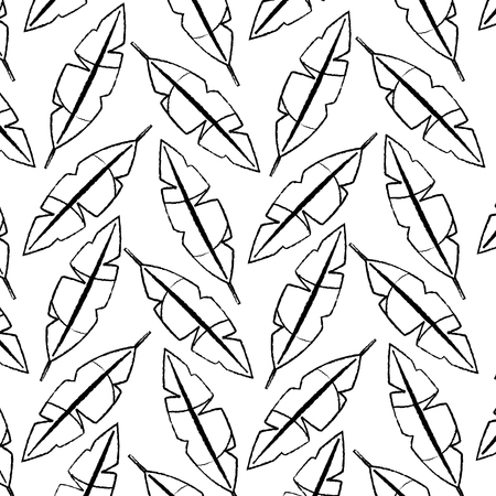 Feathers tropical pattern
