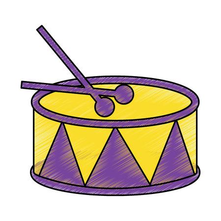 スティックアイコン画像ベクトルイラストデザインスケッチスタイルでドラム  イラスト・ベクター素材
