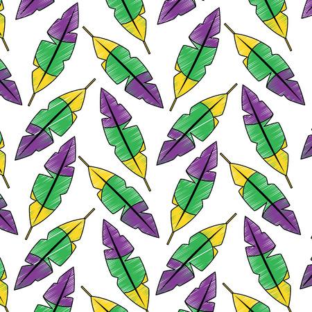 羽熱帯パターンイメージベクトルイラストデザインスケッチスタイル