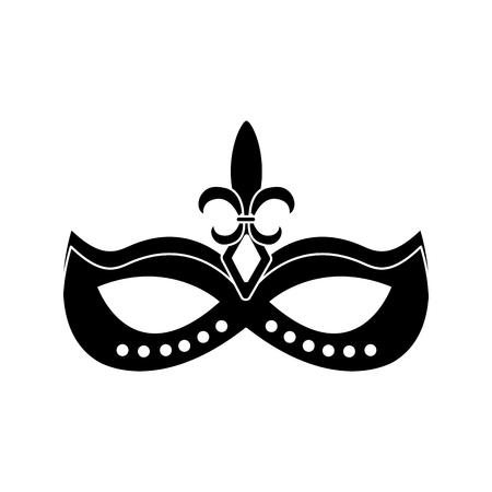 ●マスク装飾カーニバルアクセサリーアイコン画像ベクトルイラストデザインブラックと