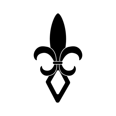 fleur de lis icon image vector illustration design  black and Ilustrace