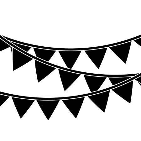 pennant banner icon image vector illustration design  black and