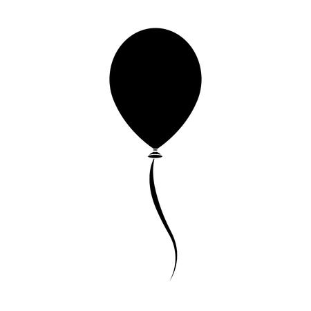 single balloon icon image vector illustration  design  black and Stock Illustratie