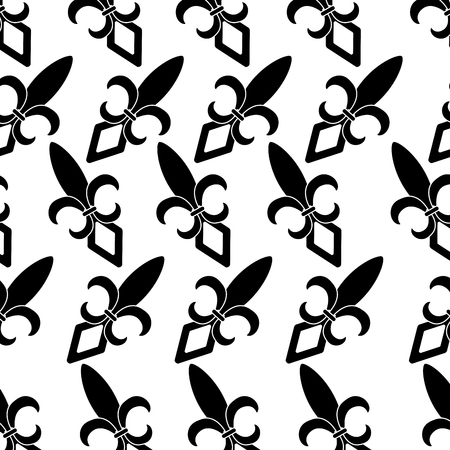 fleur de lis pattern image vector illustration design black and Illustration