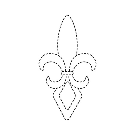 fleur de lis icon image vector illustration design black dotted line