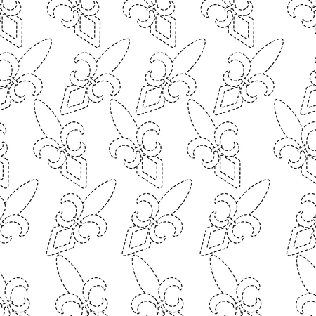 fleur de lis pattern image vector illustration design black dotted line