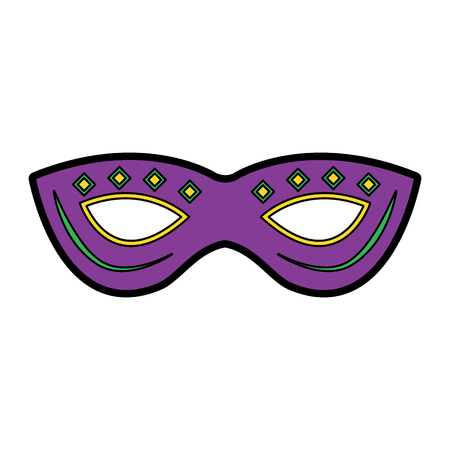 mask mardi gras carnival icon image vector illustration design