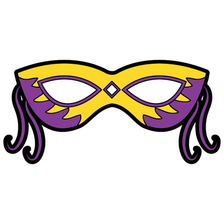 mask mardi gras carnival icon image vector illustration design