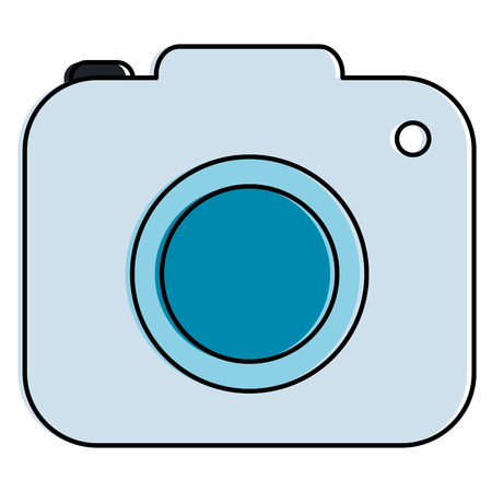 Camera photographic isolated icon vector illustration design Vectores