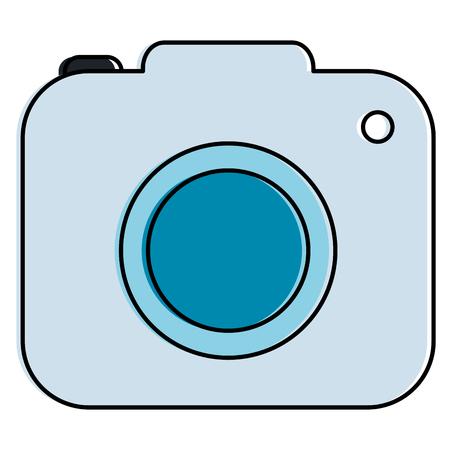 Camera photographic isolated icon vector illustration design Vettoriali