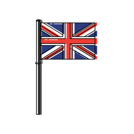 flag united kingdom icon image vector illustrationd design