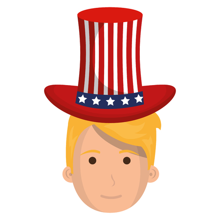 man with USA hat vector illustration design Illustration