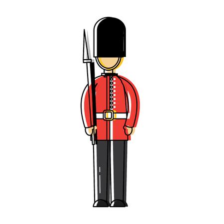 경비 런던 영국 영국 아이콘 이미지 벡터 illustrationd 디자인