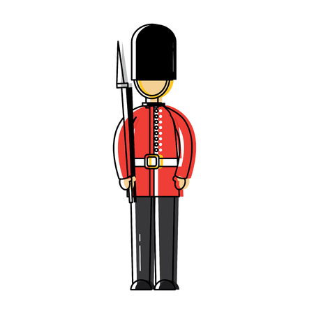 Guard london united kingdom icon image vector illustrationd design