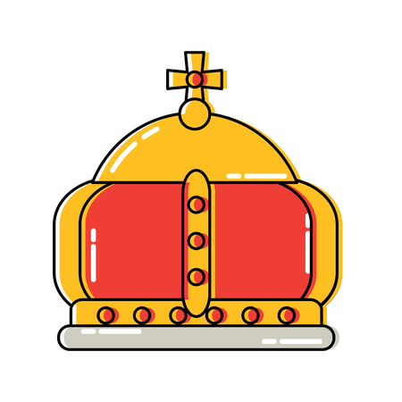 Royal crown with cross icon image vector illustration design