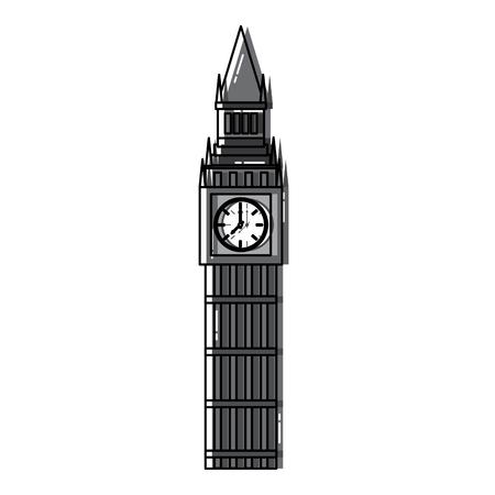 Ontwerp van het het pictogrambeeld van Big Ben Londen het Verenigd Koninkrijk vector illustrationd