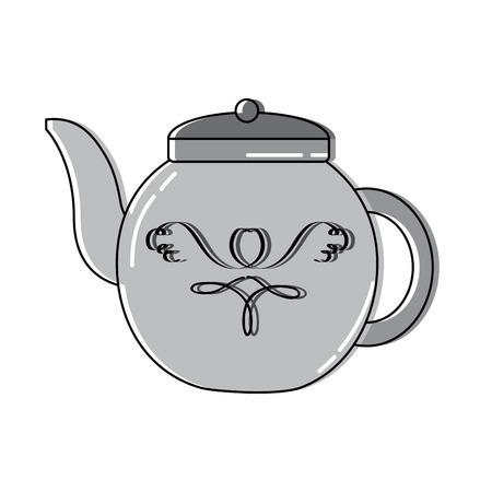 Tea kettle icon image vector illustration design Çizim