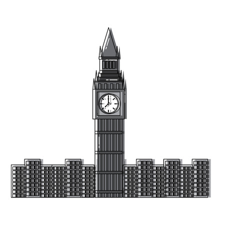 Big ben london united kingdom icon image vector illustrationd design
