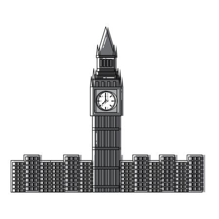 Big ben london united kingdom icon image vector illustrationd design