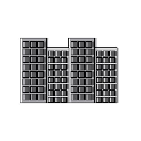 建物都市スカイラインアイコン画像ベクトルイラストデザイン  イラスト・ベクター素材