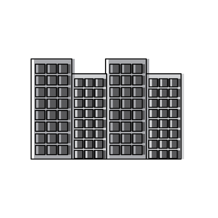 Buildings city skyline icon image vector illustration design Ilustrace
