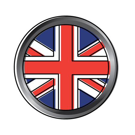 Ontwerp van het het pictogrambeeld van het vlagembleem het Verenigd Koninkrijk vector illustrationd Stock Illustratie