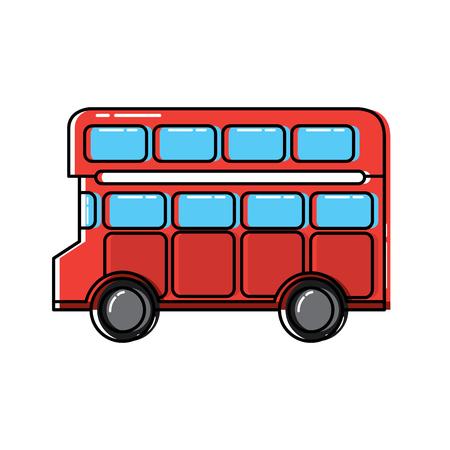 dubbeldekker bus Londen Verenigd Koninkrijk pictogram afbeelding vector illustrationd ontwerp Stock Illustratie