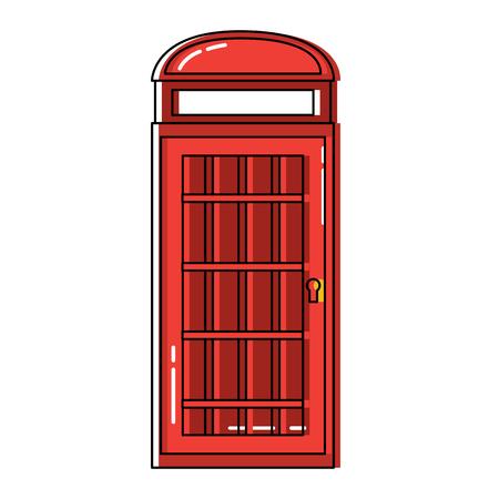 전화 부스 런던 영국 영국 아이콘 이미지 벡터 illustrationd 디자인 일러스트