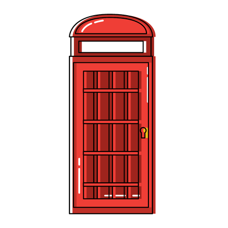 Telephone booth london united kingdom icon image vector illustrationd design Иллюстрация