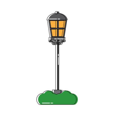 Street lamp icon image vector illustration design