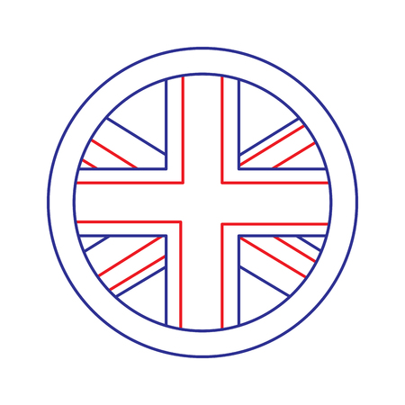 flag emblem  united kingdom icon image vector illustrationd design  blue red line